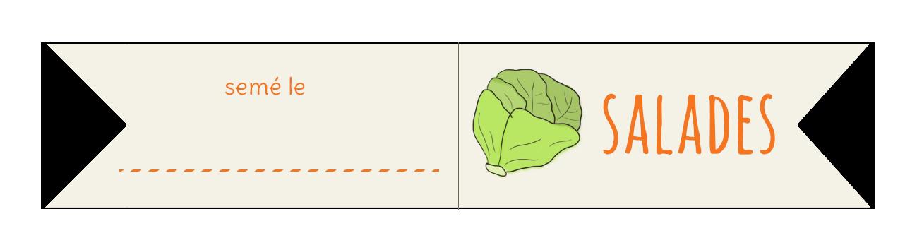 étiquettes salades