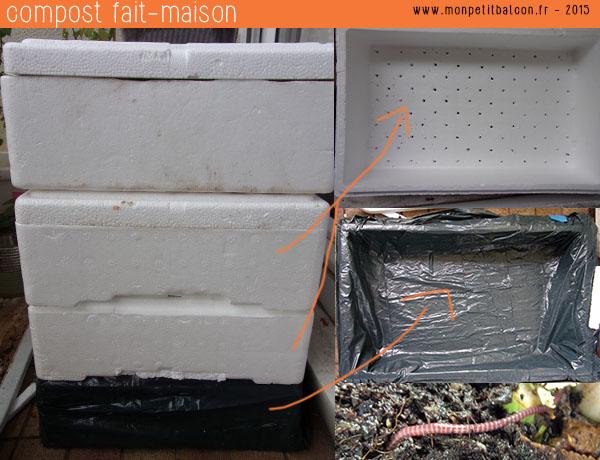 Un compost DIY fait maison avec des bacs en polyester
