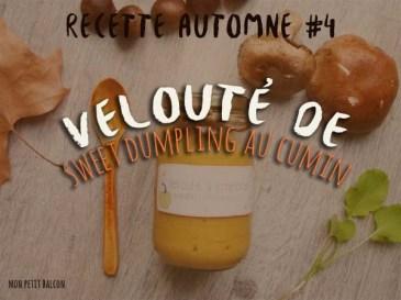 recette automne - velouté de patidou au cumin