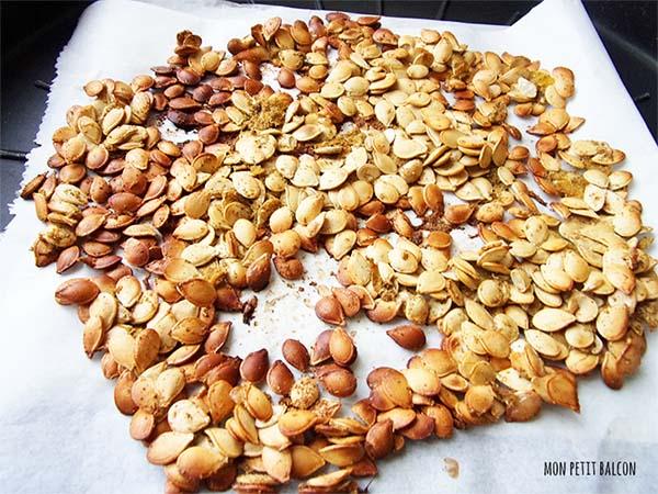 astuces anti-gaspi : des graines de courges grillés au cumin